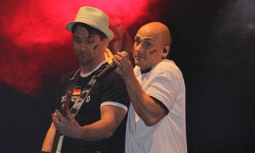 Die Coverrock-Band bot eine tolle Live-Show. Foto: wbf