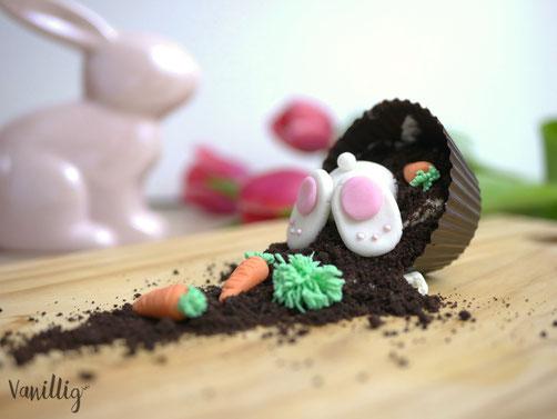 einfache Idee ein Dessert zu Ostern einzurichten.