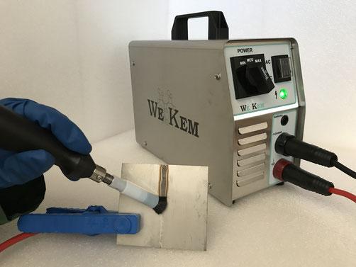 decapaggio passivazione elettrolucidatura marcatura macchina per la pulizia delle saldature inox