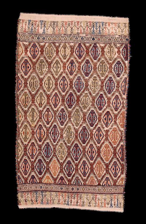 Teppich. Zürich. Antique Cicim, emroidered kilim from Anatolia. Handgewebter Teppich, Kelim.