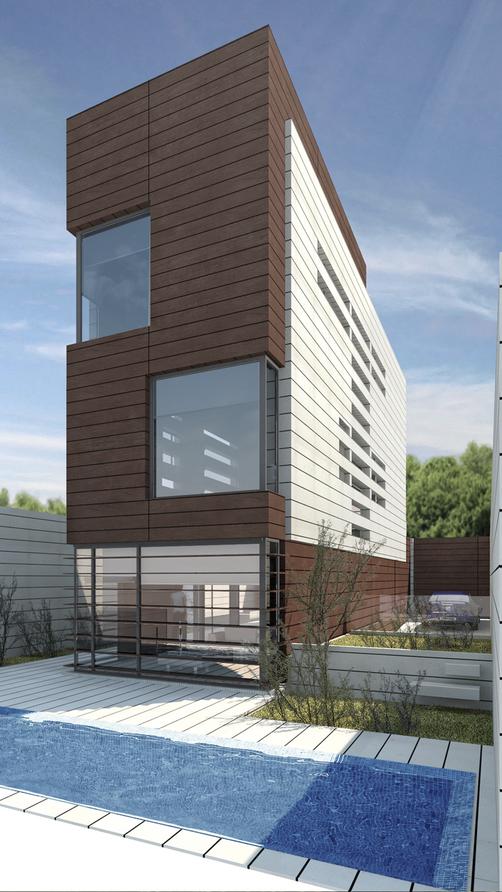 Visualización 3d, vivienda unifamiliar. render 3d max, vray.