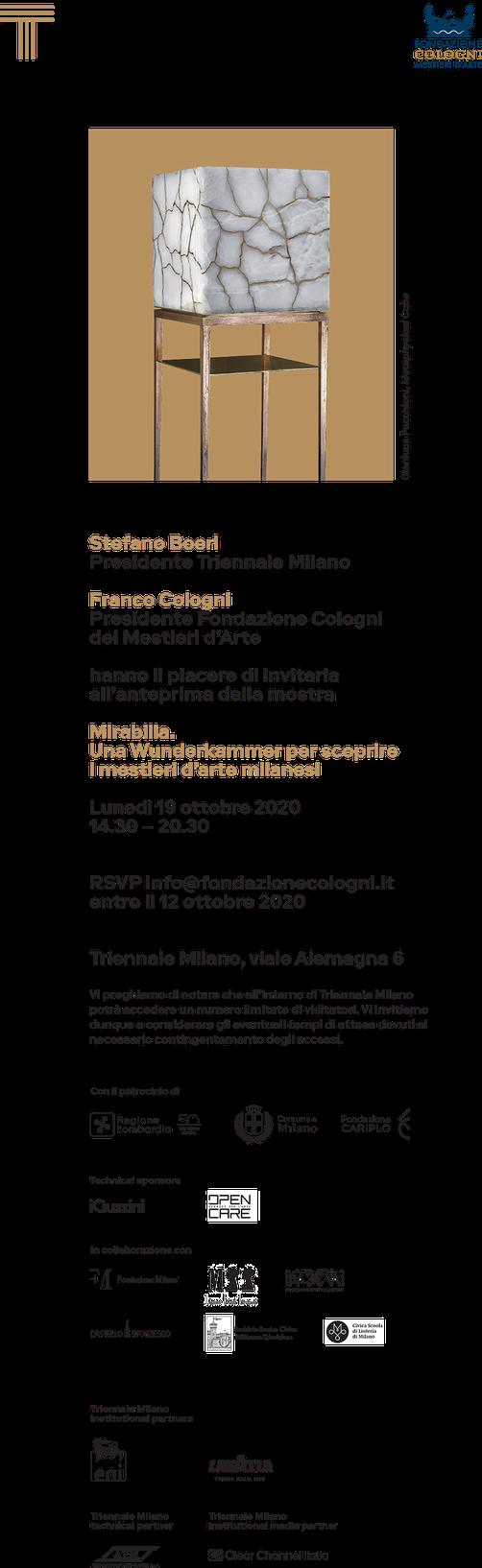 Mirabilia Triennale Milano - Fondazione Cologni - Conti Borbone