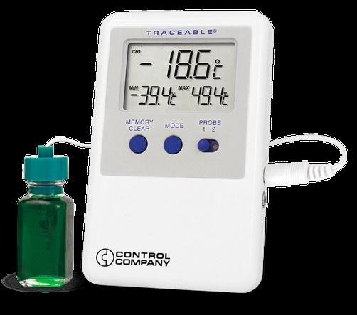 Termómetro digital para refrigerador o congelador con certificado trazable a NIST 4732