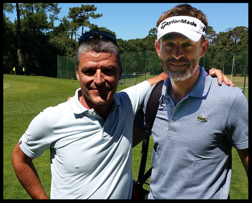 Guillaume avec Raphaël JACQUELIN sur le golf de Royan