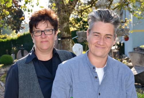 Carola Sonntag und Stephanie Grießhaber in Ihrer Ausstellung in Pfullendorf