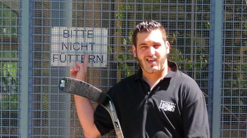 So haben ihn seine Gegenspieler kennengelernt: Royals-Stürmer Mario Viggiani.