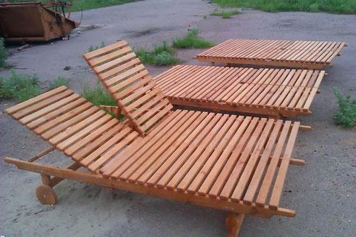 Шезлонг,лежак садовый деревянный