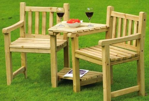 Стол садовый деревянный 2х1м