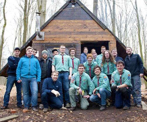 Die Pfadfinder freuen sich, die renovierte Hütte wieder nutzen zu können.