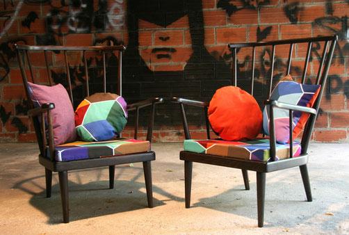 JOLI, fauteuil éventail, Baumann, vintage