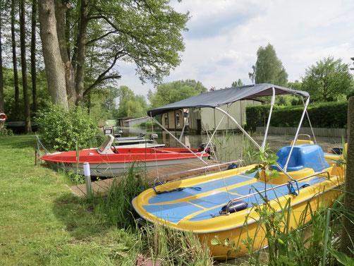 Bootsverleih Wesenberg, Ibis, Colano Tretboot
