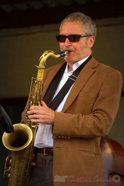 Alex Golino, saxophoniste, Alex Golino & David Blenkhorn Quartet, Festival JAZZ360 2012, château Roquebrune, Cénac, samedi 9 juin 2012