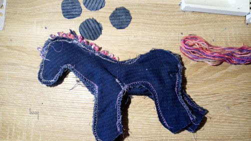 recycling horse sewing