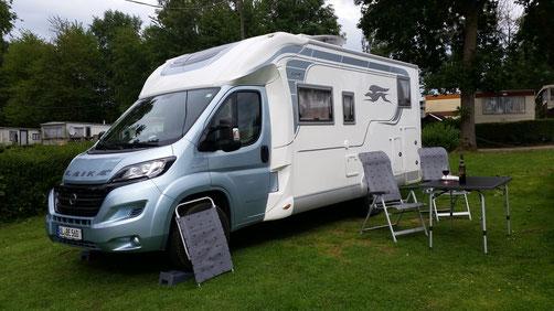 Der Campingplatz in Villers-Sire-Nicole liegt idyllisch in Frankreich an der Belgischen Grenze