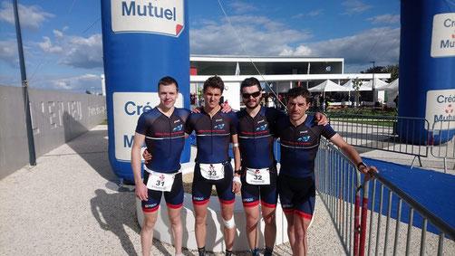 Millau Grands Causses Triathlon - D3 Duathlon - duathlon Parthenay - Guilhem Prax - Guillaume Rafinesque - Mathieu SZOLDRA - Francis Maury