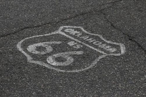 Route 66, Oklahoma, Symbol auf Straße