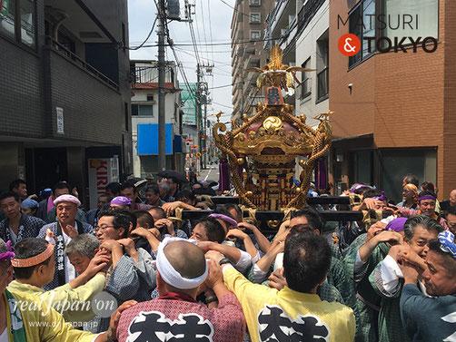 東大島神社 例大祭・中神輿渡御@2017.8.6