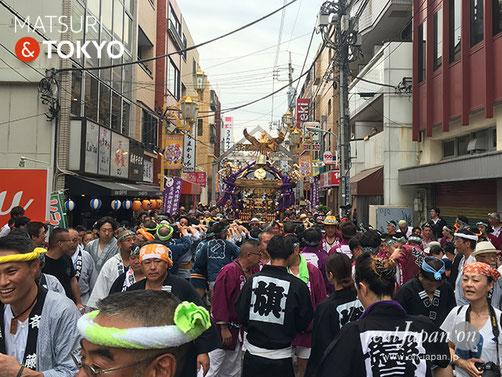 旗岡八幡神社 宮神輿完成披露渡御 @2017.7.16