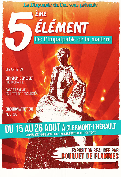 Affiche Expo d'été Bouquet de Flammes
