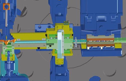 3D Ansicht eines Bihler Werkzeug in Plattenbauweise inklusive Montageeinheit.