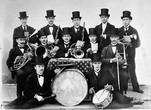 Die Musikkapelle Eilinghoff in ihren Anfangsjahren, Foto um 1910
