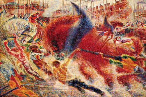 """Umberto Boccioni, """"La città che sale"""" (1910)"""