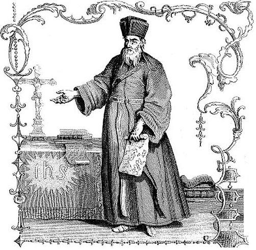 Le père Matthieu Ricci. Histoire de l'expédition chrétienne au royaume de la Chine, tirée des mémoires de Matthieu RICCI (1552-1610) par Nicolas TRIGAULT (1577-1628), et traduite par D. F. de Riquebourg-Trigault - Imprimerie de P. de Rache, Lille, 1617.