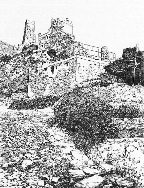 Une lamaserie. - Mission lyonnaise d'exploration commerciale en Chine, 1895-1897. Récits de voyages. —  A. Rey et Cie, imprimeurs-éditeurs, Lyon, 1898.