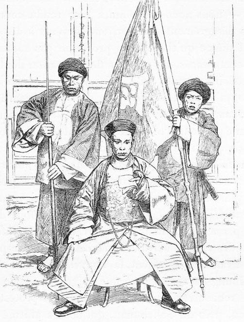 Le commandant des troupes de Moung-tse. - Mission lyonnaise d'exploration commerciale en Chine, 1895-1897. Récits de voyages. —  A. Rey et Cie, imprimeurs-éditeurs, Lyon, 1898.