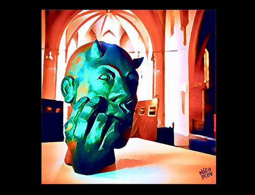 """Artwork autour d'une Sculpture grès de juan josé Ruiz dit """"Caco"""" -Nico Ikov 2018-"""