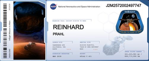 Mein Name auf dem Mars- in Form eines Mikrochips, auf dem noch tausende Namen sind. Eine schöne Aktion der NASA