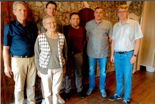 v.l.n.r.: Gerhard Stappenbeck, Gerda Serth, Tobias Quindel, Gundolf Freitag, Torsten Grube und Thorsten Quindel