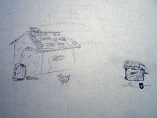 Ronans und Liams Hütte, Skizze von 2007