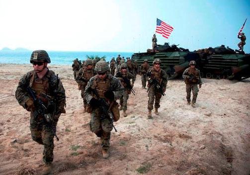 Amerikanske soldater deltager i en militærøvelse i Thailand (2018)