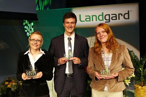 Die drei Preisträger, von links nach rechts: Viola Müller, Burkard Kautz und Heiderose Hoya.