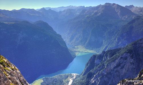 Königsee und etwas versteckt der Obersee