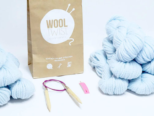 Strickset für Anfänger: Softy Sweater von Wooltwist