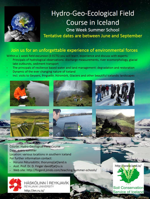 Summer school on hydrology, geology and ecology in Iceland