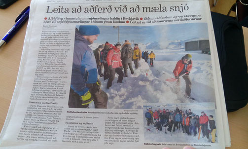 Snow hydrology workshop makes the headlines in mbl.is
