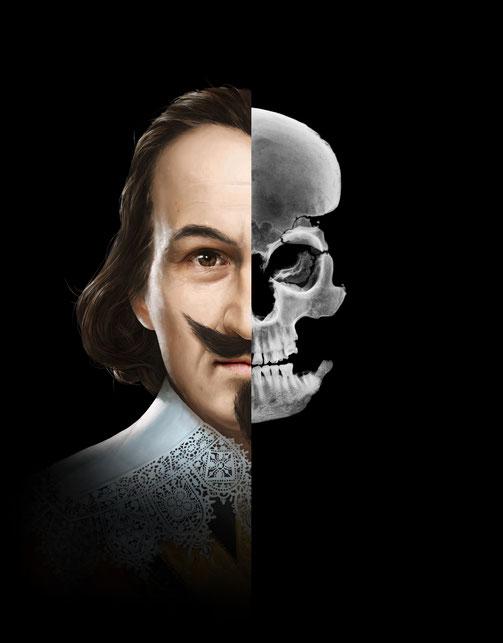 Gesichtsrekonstruktion von Jörg Jenatsch © Michael Stünzi