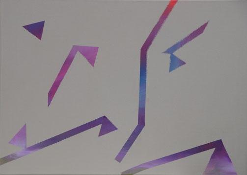 ohne Titel, Acryl auf Leinwand, 70 x 50 cm