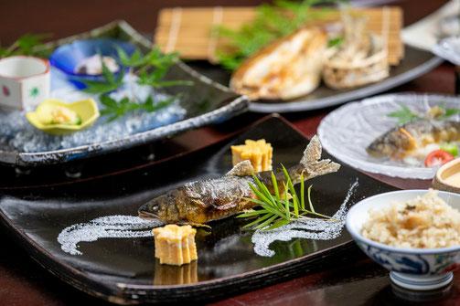 天然鮎料理フルコースプラン