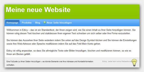 Homepage generieren