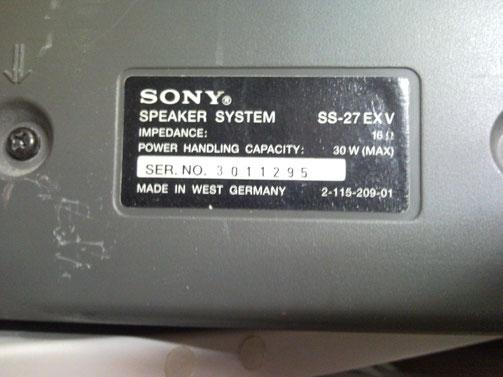 Sony SS-27 Deckenlautsprecher Rear