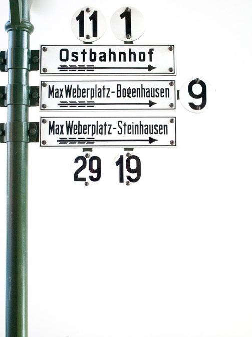 Haltestelle - Schild - Ostbahnhof - Max-Weber-Platz - Bogenhausen - Steinhausen