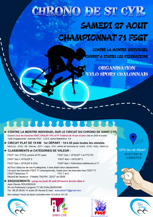 Championnat 71 FSGT CLM individuel