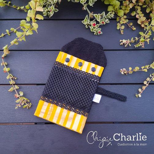 Etsy Qc, Portrait de créateur Chipie Charlie, gant de douche