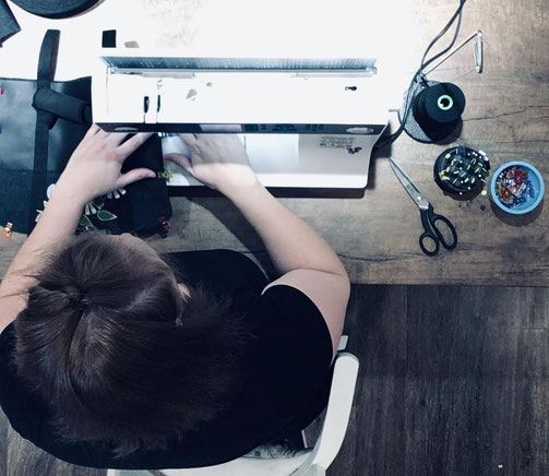 Etsy Qc, portrait de créateur, Mine de rien, créatrice en action