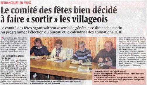 Article de presse : l'Aisne Nouvelle.