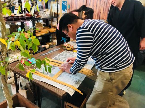 隠岐の島 京見屋分店 ウッドチップ ワークショップ